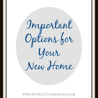 Buying a New Build – Selecting Options & Upgrades