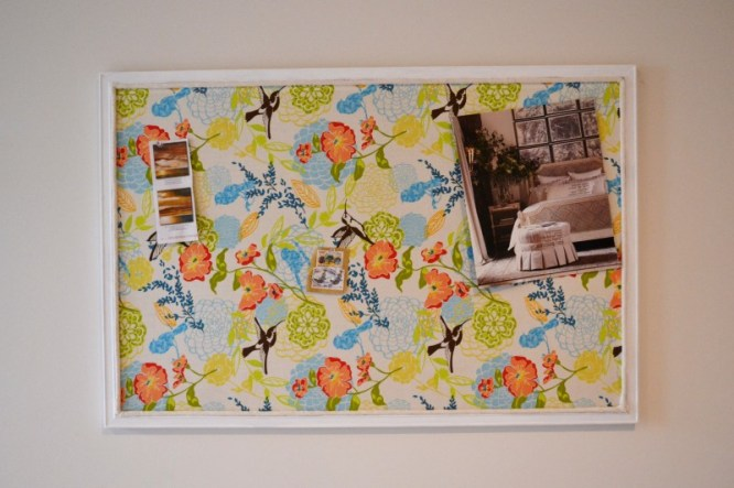 cork board makeover with fabric and cording, DIY Bulletin Board Tutorial