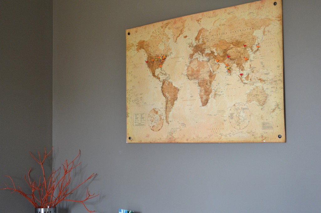 DIY Cork Board Map Whats Ur Home Story