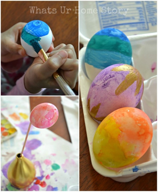 painted easter eggs, Watercolor Easter Eggs, how to make watercolor easter eggs