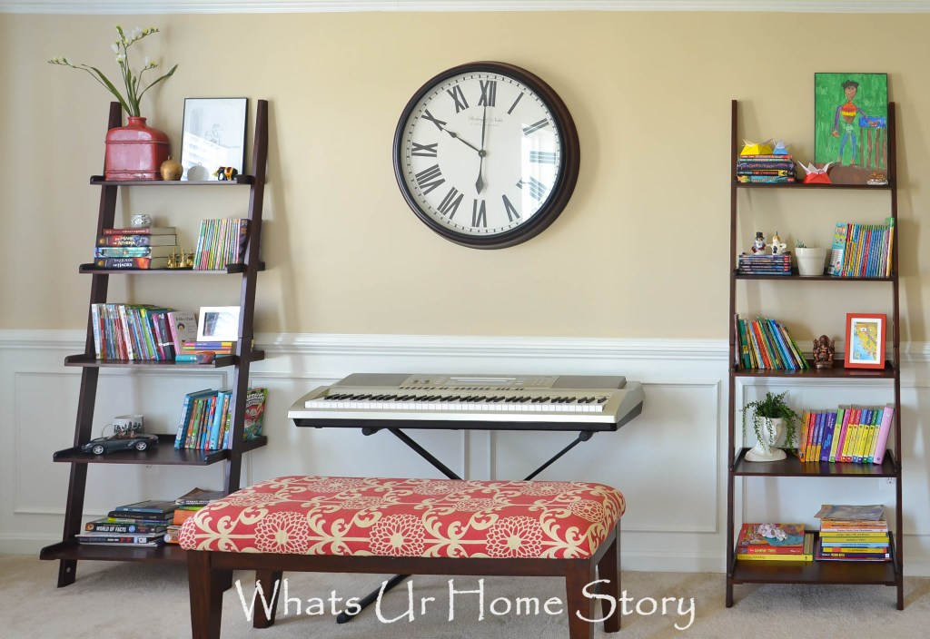 DIY bench makeover with Suzani fabric