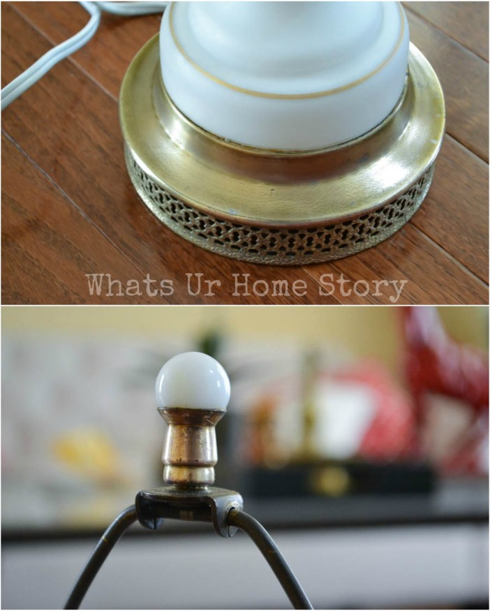 update a brass lamp with Brasso