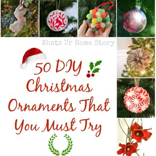 My Favorite 50 DIY Christmas Ornaments