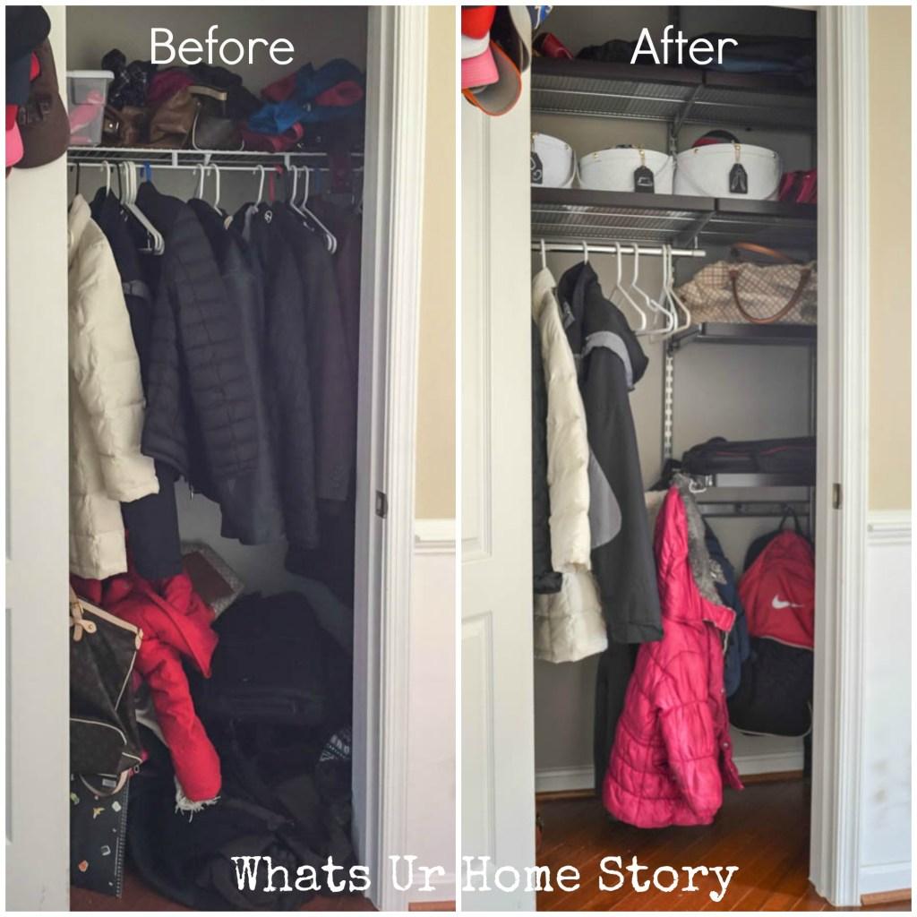 Coat closet Orgnaization - Whats Ur Home Story