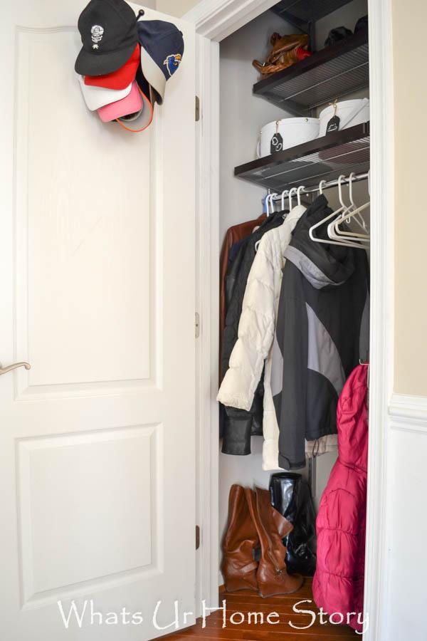 The Container Store Elfa coat closet