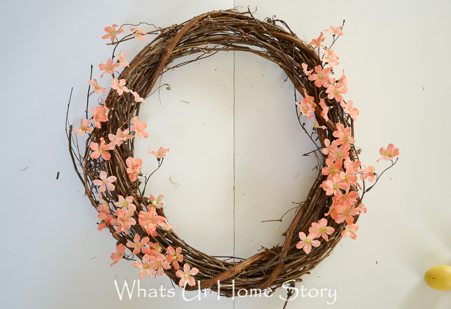 how to make an easy spring wreath