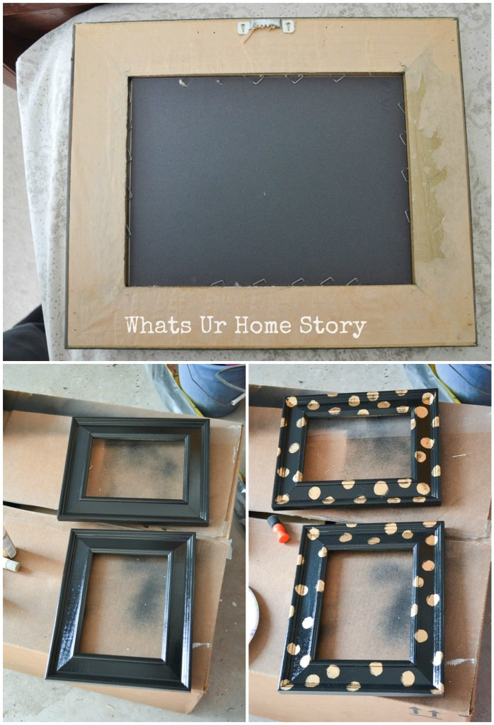 DIY Polka dot frames