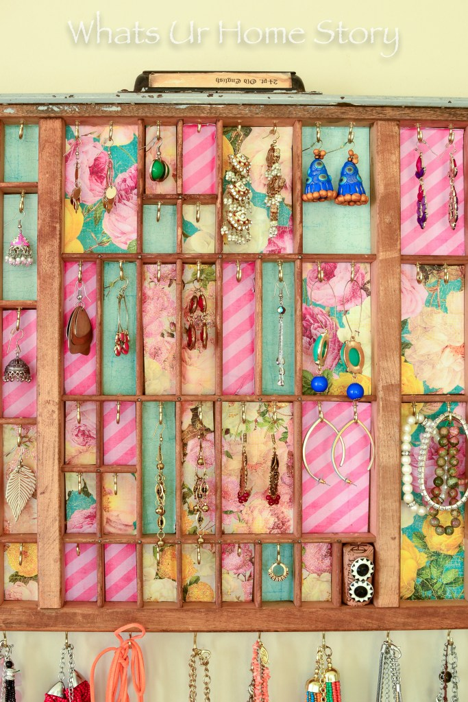 How to turn an old Letterpress Tray into a great jewelry organizer