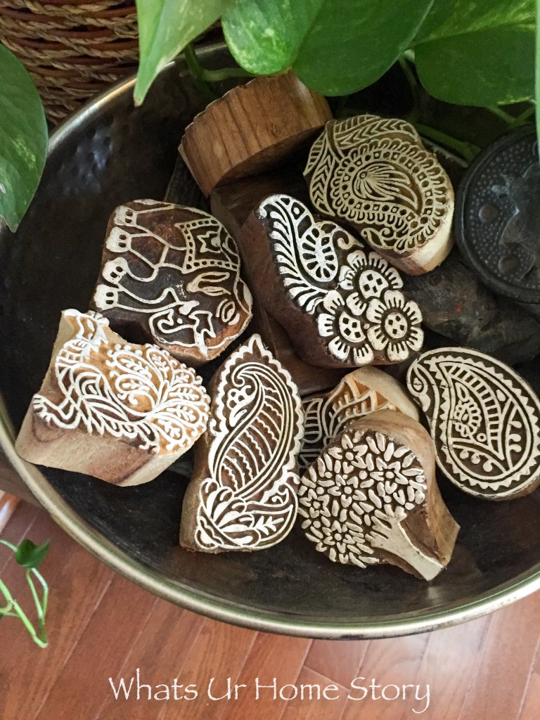 Intricate Block printing stamps from India