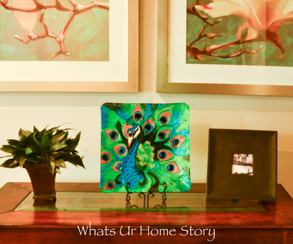 eclectic home tour - peacock plate