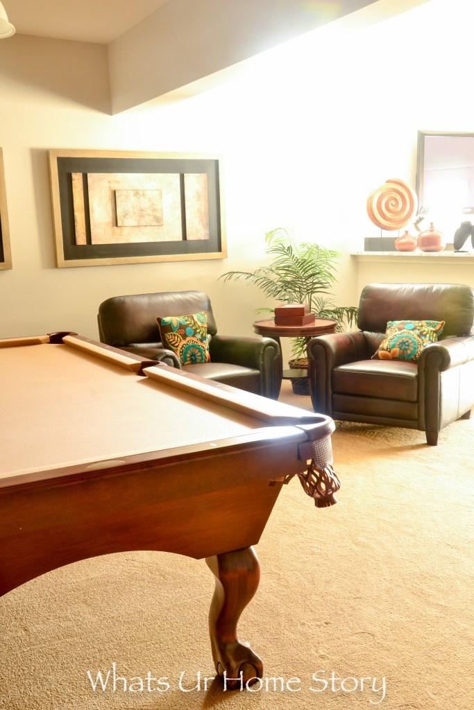eclectic home tour- rec room
