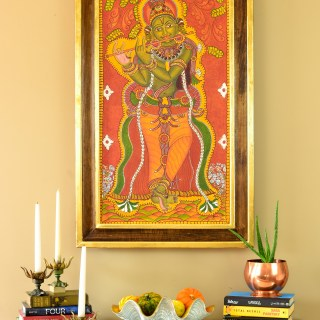 My Mom's Krishna Mural Painting & a DIY Frame