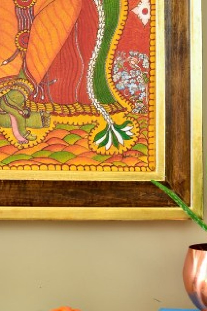 My Mom S Krishna Mural Painting Amp A Diy Frame Whats Ur