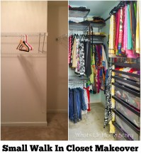 Small Walk In Closet Makeover | Whats Ur Home Story