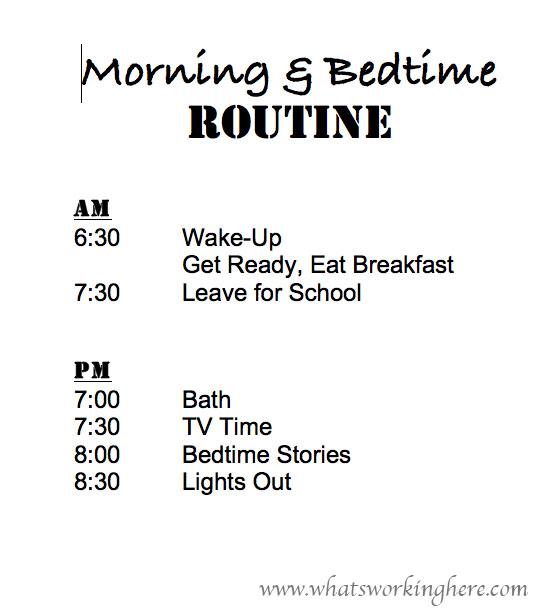 School Routine