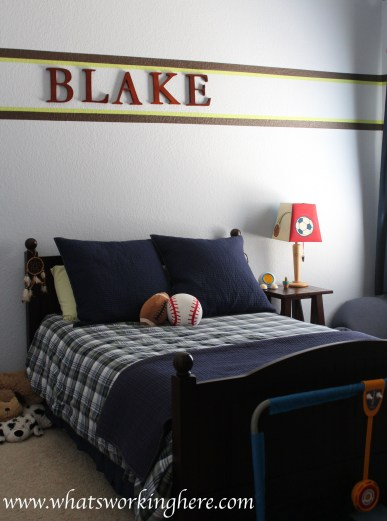 Sporty Boys Room- Bed