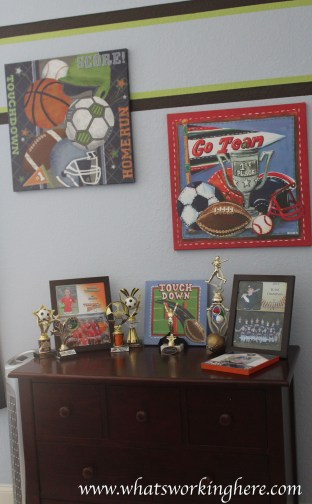 Dresser and trophies