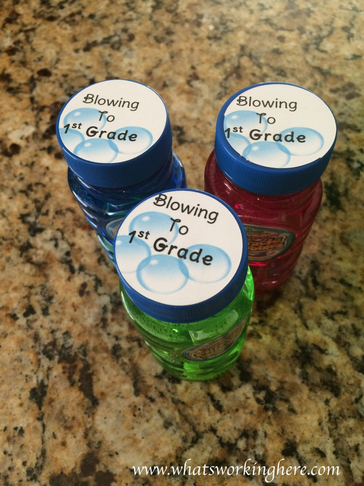 Blowing to 1st grade