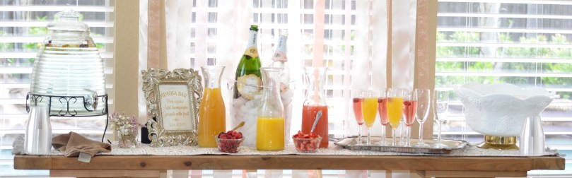 Bridal Brunch mimosa bar