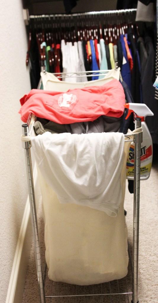 Master Closet laundry hamper