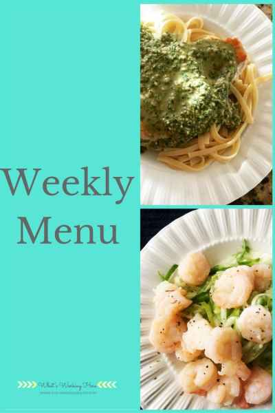 March 26th Weekly Menu
