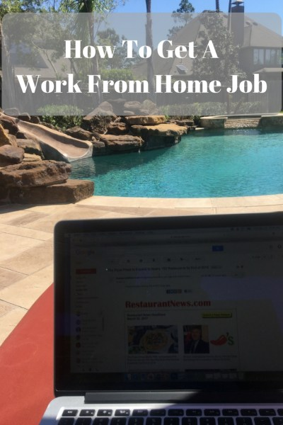 How To Get A Work From Home Job