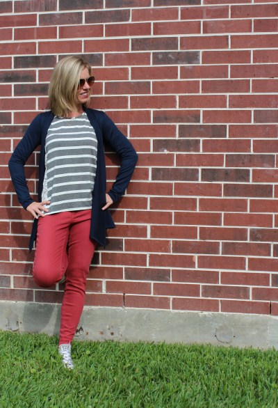 Stitch Fix -Beverly lace side top, Lola Skinny Jean, Abrianna Cardigan