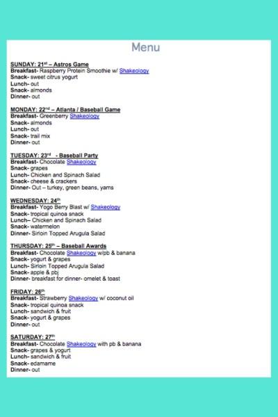 May 21st Weekly Menu