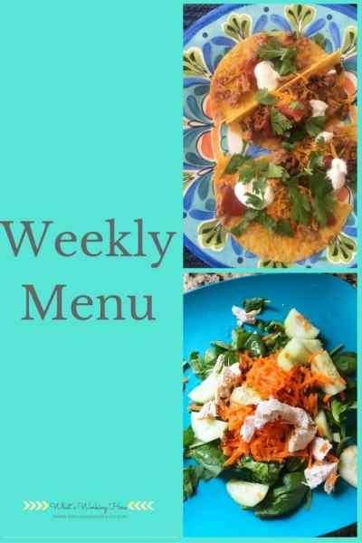 October 1st Weekly Menu