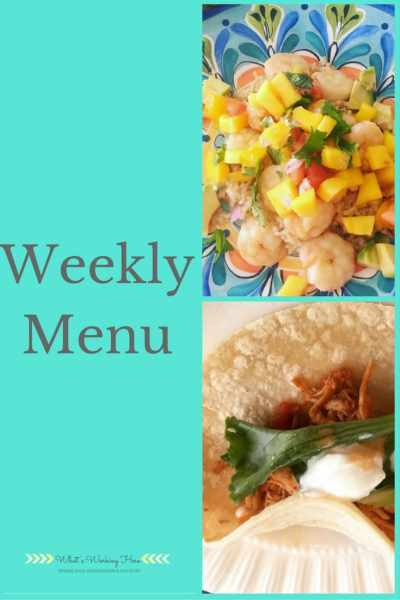 September 24th Weekly Menu