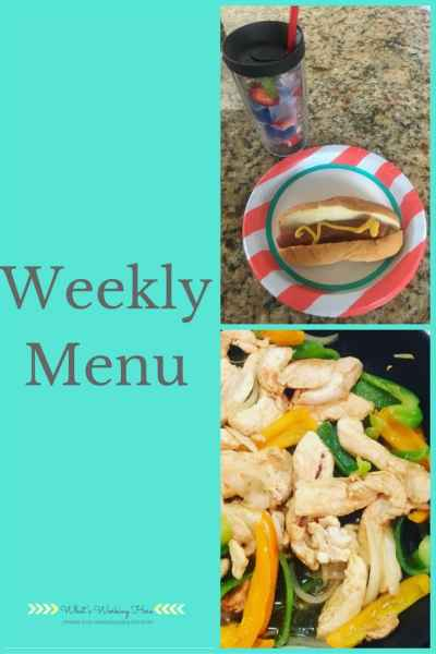 September 3rd Weekly Menu