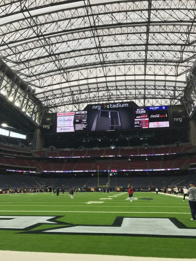Texans Sideline Experience -Down on the field