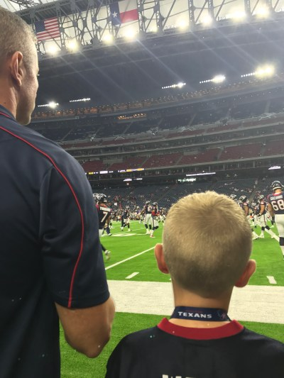 Texans Sideline Experience- up close warm up