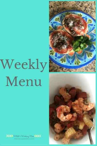October 15th Weekly Menu