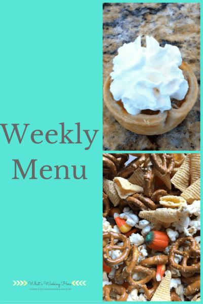 November 19th Weekly Menu - Thanksgiving