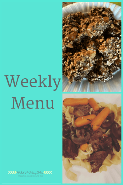 March 18th Weekly Menu- 80 Day Obsession Refeed Day