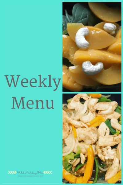 April 29th Weekly Menu - Craving Healthy Foods