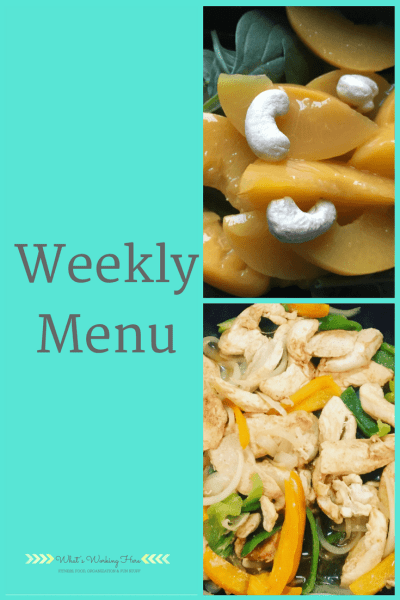 April 29th Weekly Menu - Craving Healthy Foods