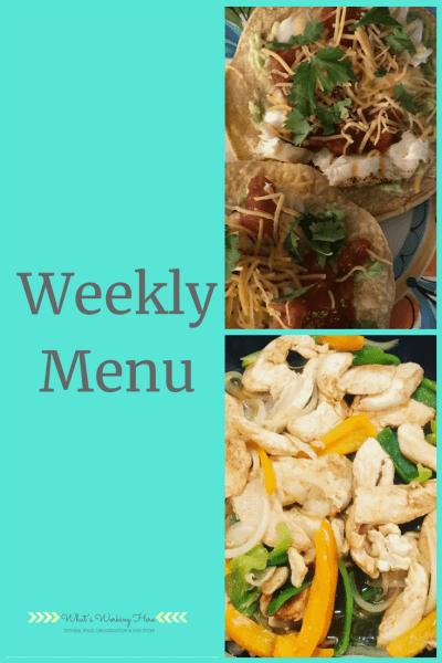 July 29th Weekly Menu - Simple Summer Meals