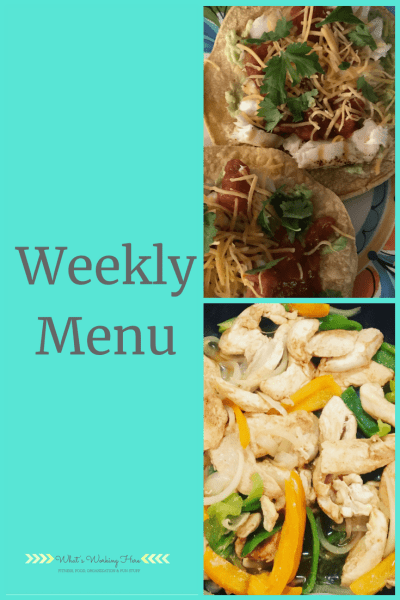 July 29th Weekly Menu - Simple Summer Meals