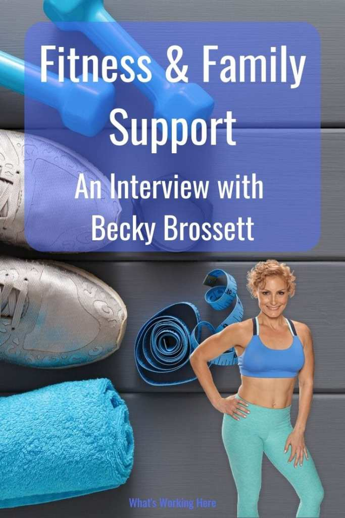 Fitness & Family Support_ An Interview with Becky Brossett - weights, shoes, towel, tape measure, coach becky