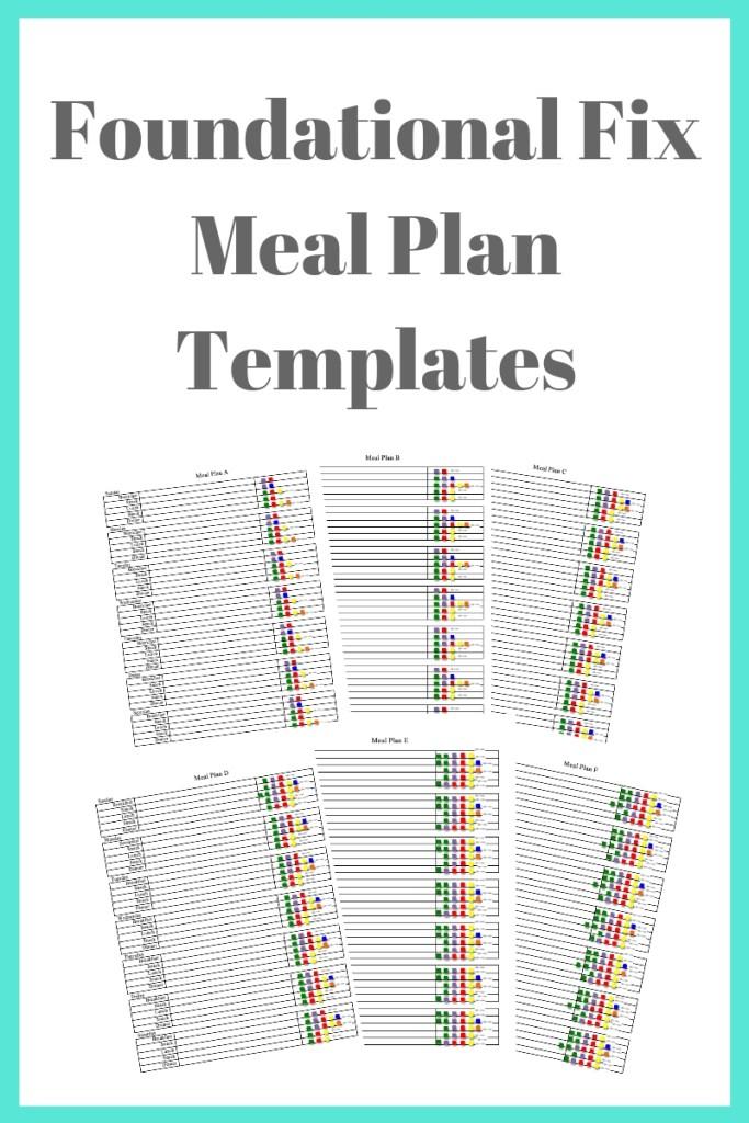 Foundational Fix Meal Plan Templates