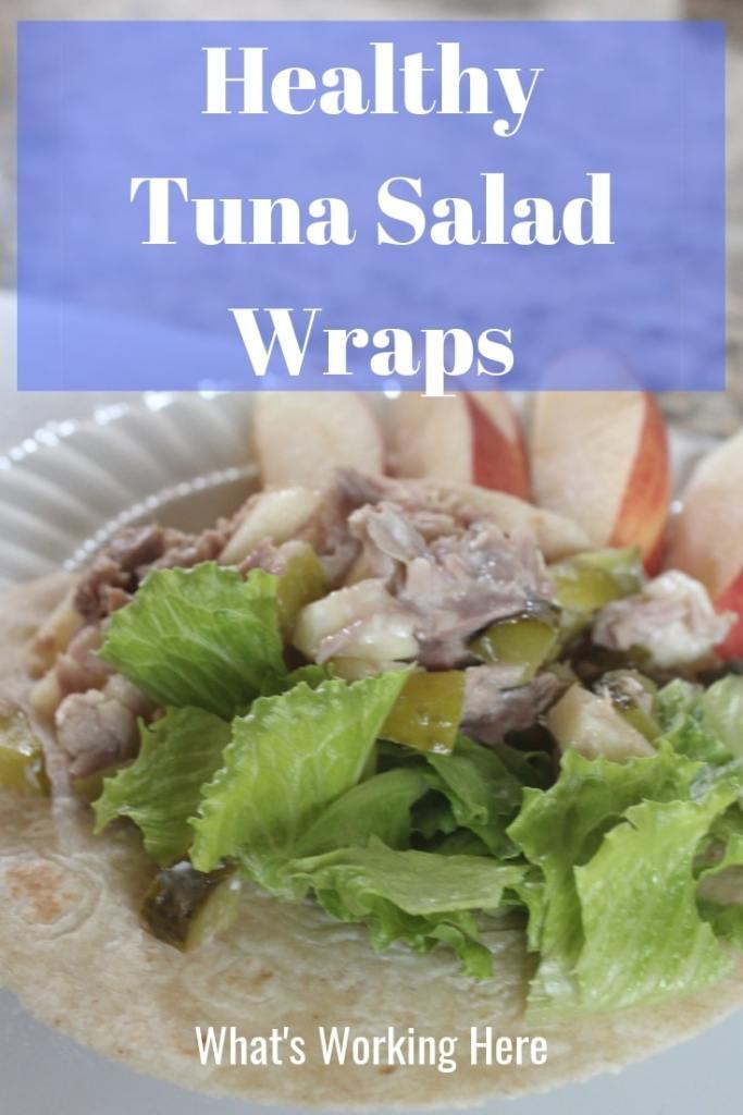 Healthy Tuna Salad Wraps