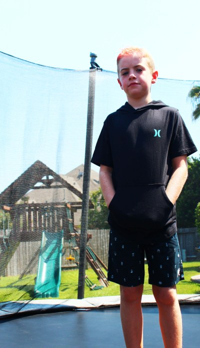 Stitch Fix Kids Hurley Hoodie and shorts