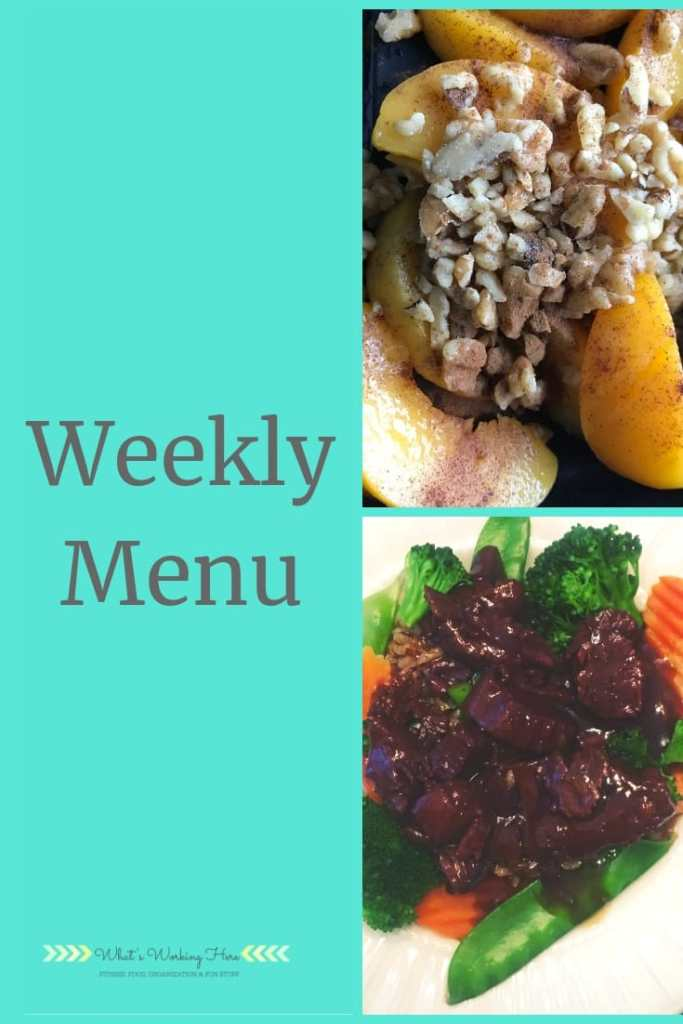 Jan 20th Weekly Menu - Transform :20 Meal Plan A