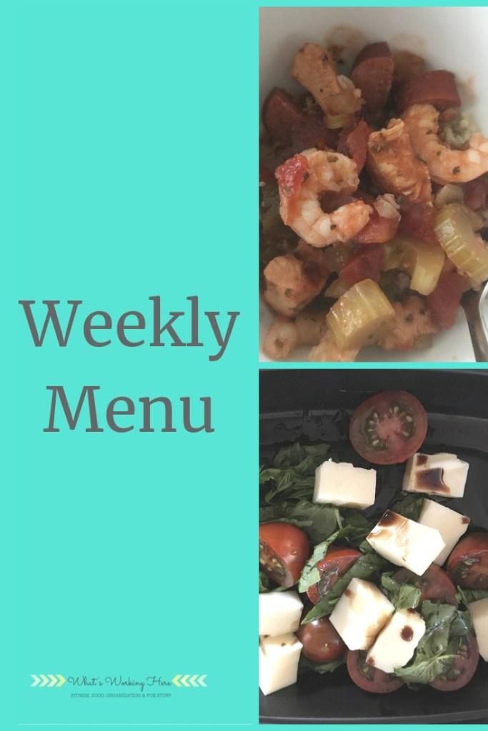 Transform :20 Food List -Jan 27th Weekly Menu