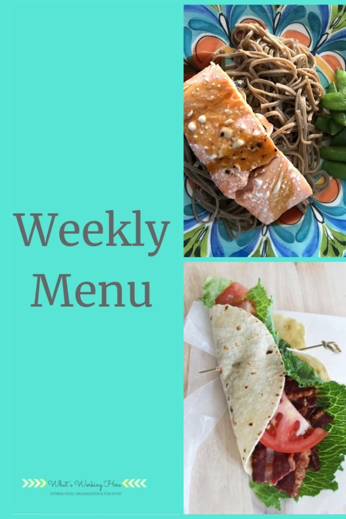 Carb Cycling Weekly menu -June 23rd Weekly Menu