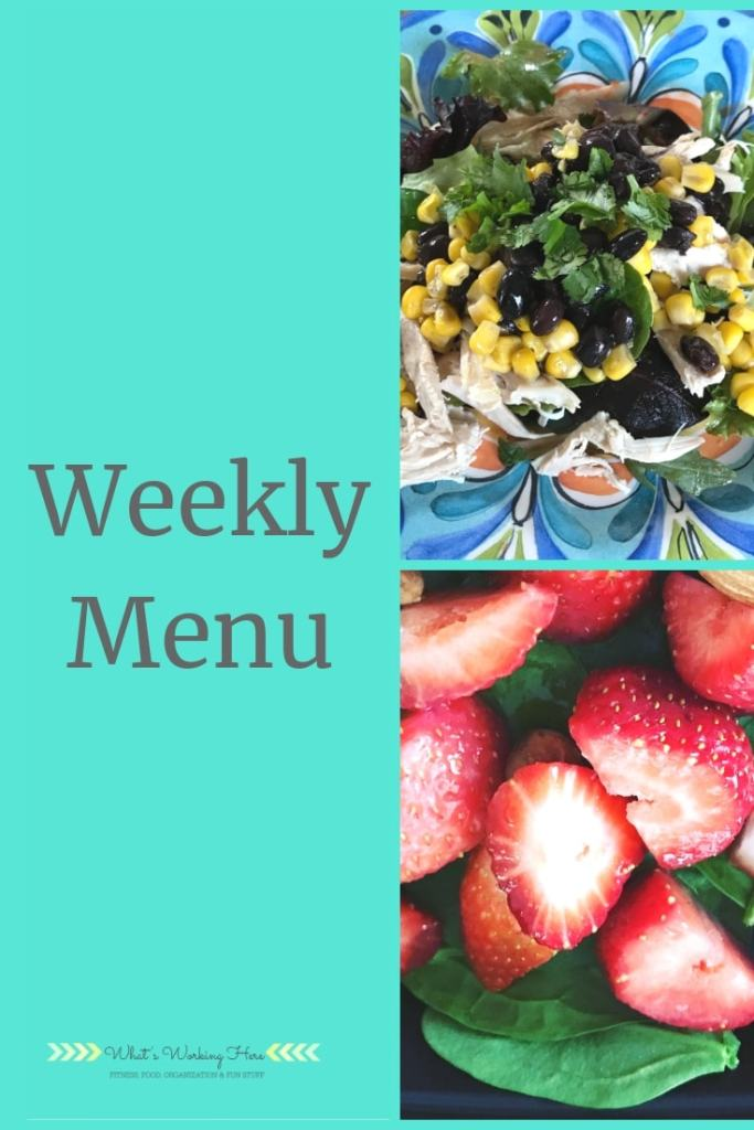 May 5 Weekly Menu - Southwest Chicken Salad, Strawberries & Spinach