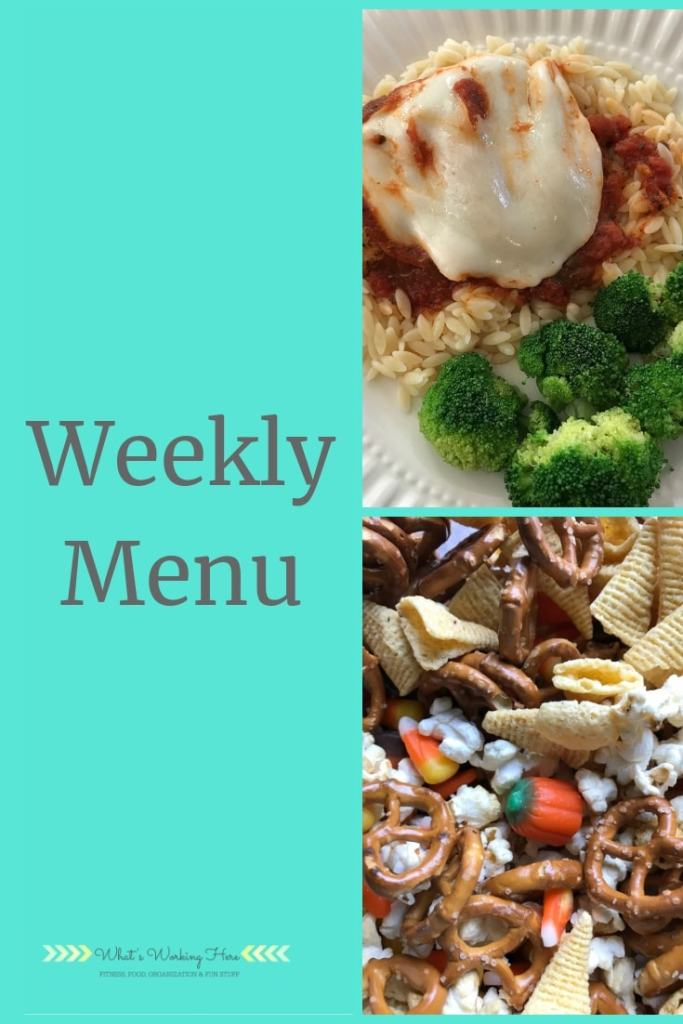 Sept 16 Weekly Menu - healthy travel snacks #whatsworkinghere #mealplanning #weeklymenu