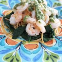 Shrimp & Spinach Pesto Pasta